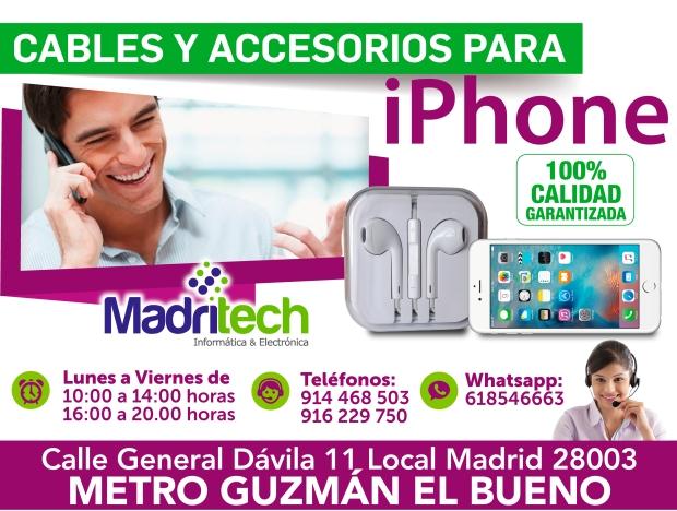 cables y accesorios para iphone