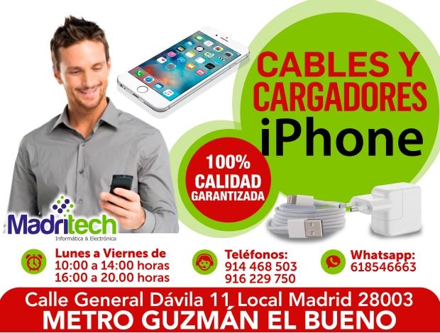 cables y cargadores para iphone MADRITECH