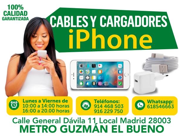 cables y cargadores para iphone
