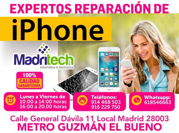 expertos reparacion iphone madridtech