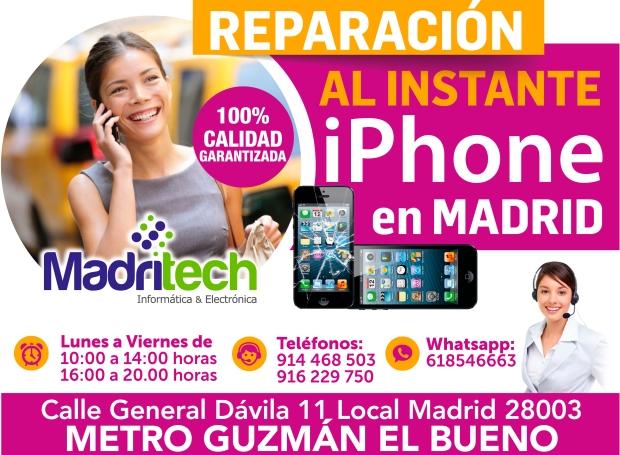 reparacion al instante iphone en madrid