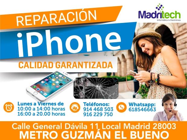 arreglos de iphone en el barrio de salamanca