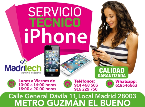servicio técnico iphone 45 minutos