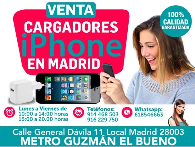 venta cargadores iphone en madrid