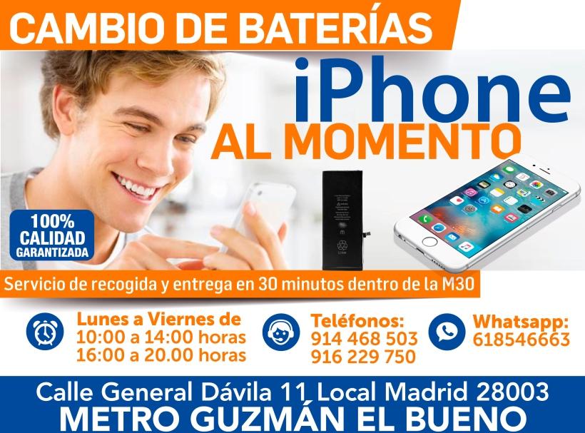 618546663 madritech cambio de baterias iphone