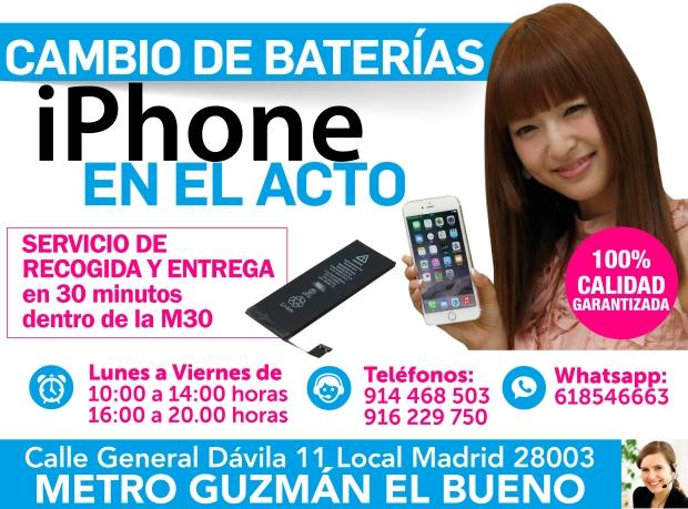 916 229 750 baterias nuevas para iphone