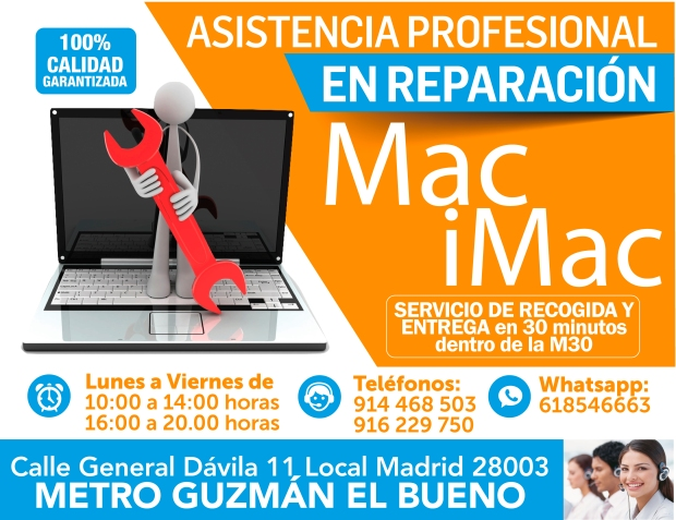 916 229 750 eficacia en reparacion mac imac