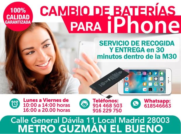 916 229 750 garantia en baterias para iphone en madrid