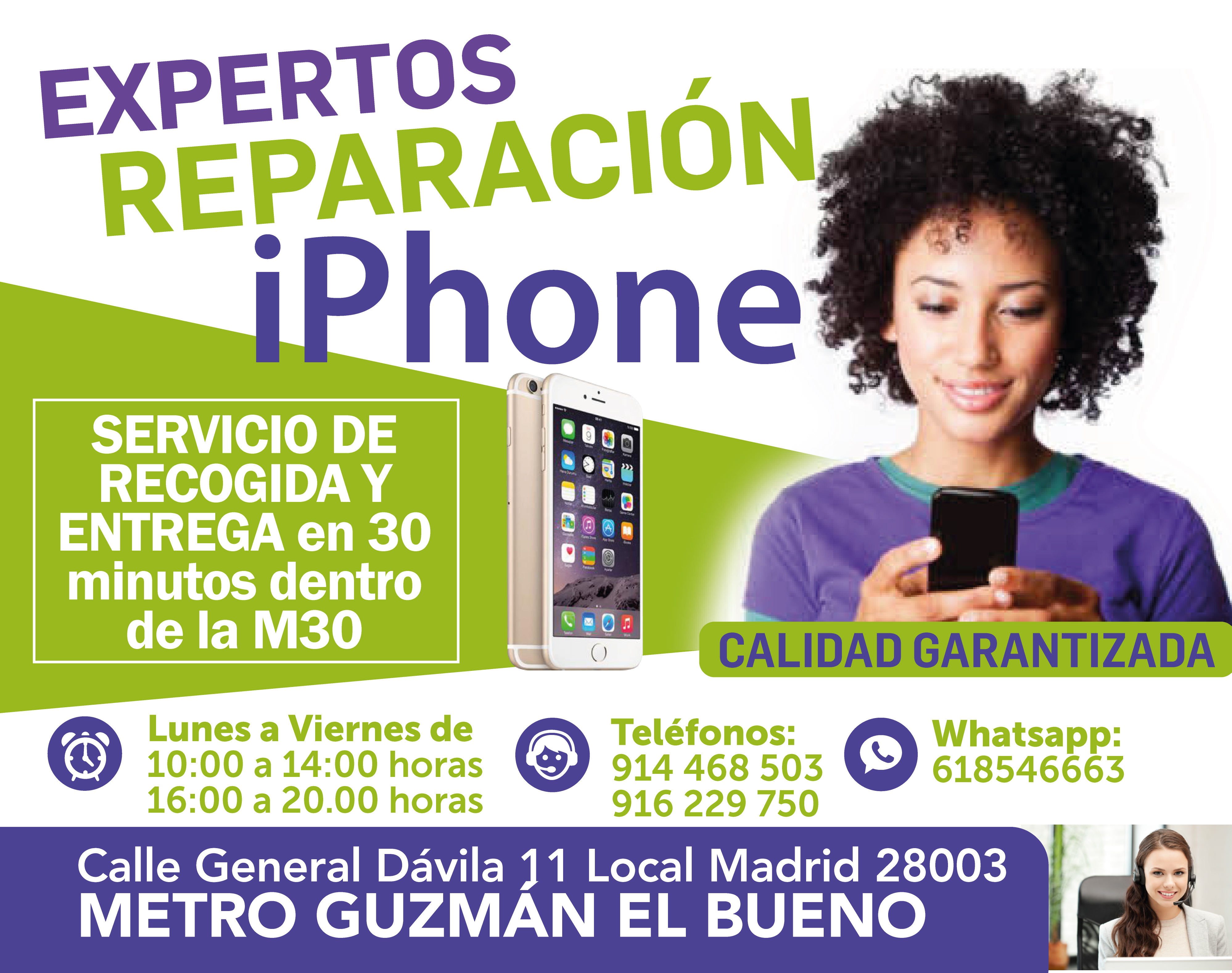 madritech rapidez en reparacion iphone