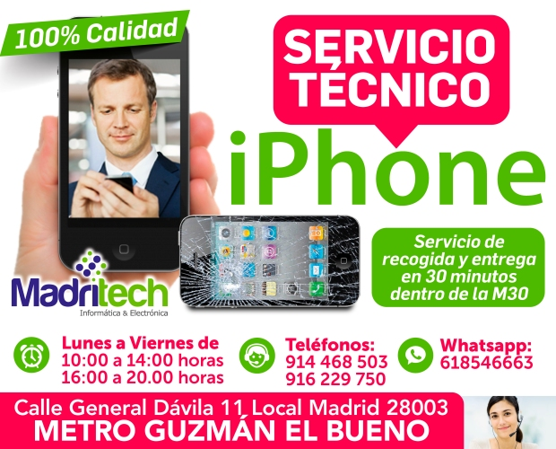 servicio tecnico iphone madritech