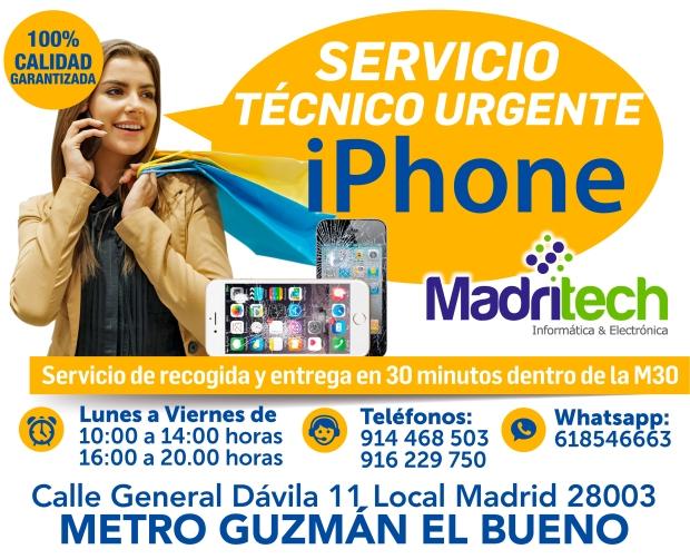 servicio tecnico urgente iphone madrid