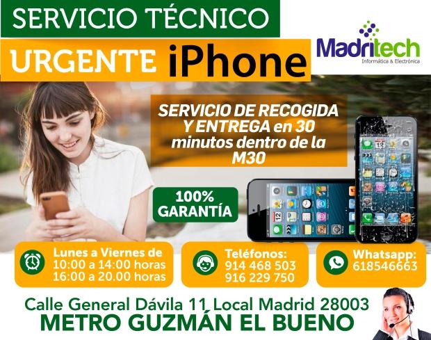 servicio tecnico urgente iphone