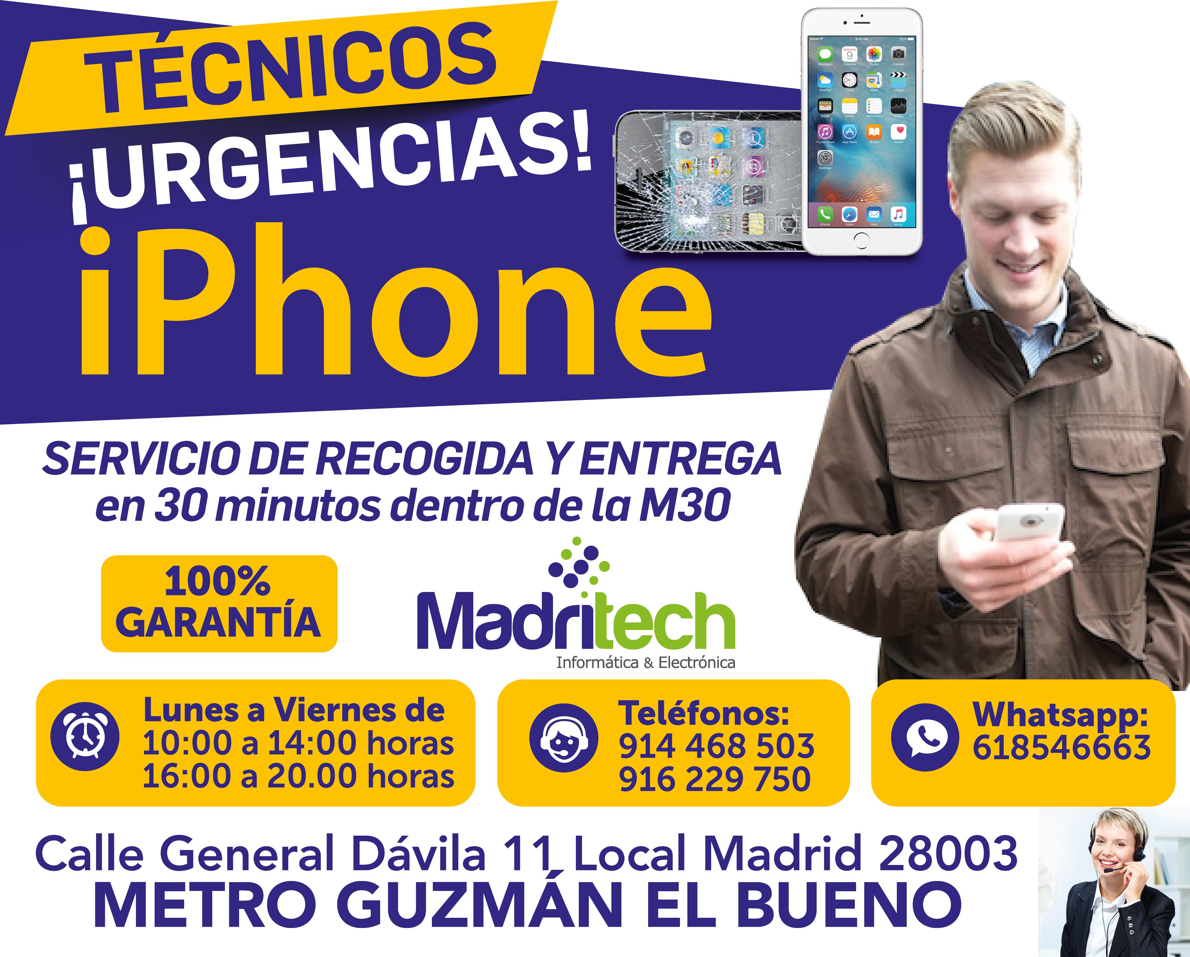 reparacion iphone urgente barrio de salamanca