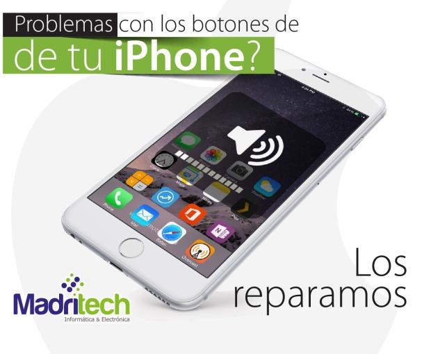 reparacion de botones de subir y bajar el volumen iphone