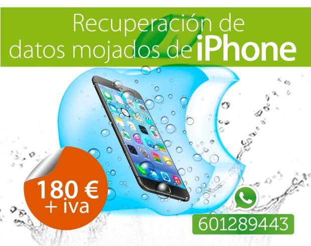 recuperación de datos de iphone mojados